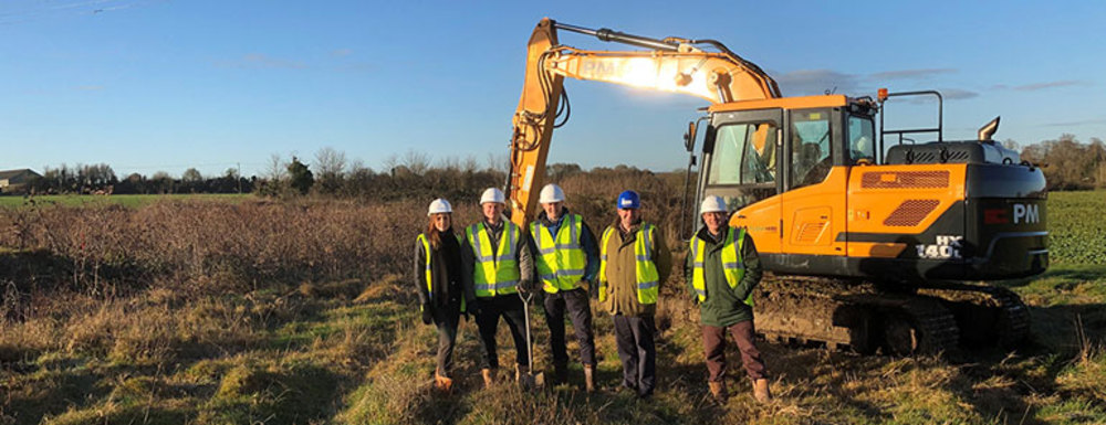 Turf cutting begins at Church Farm, Rode