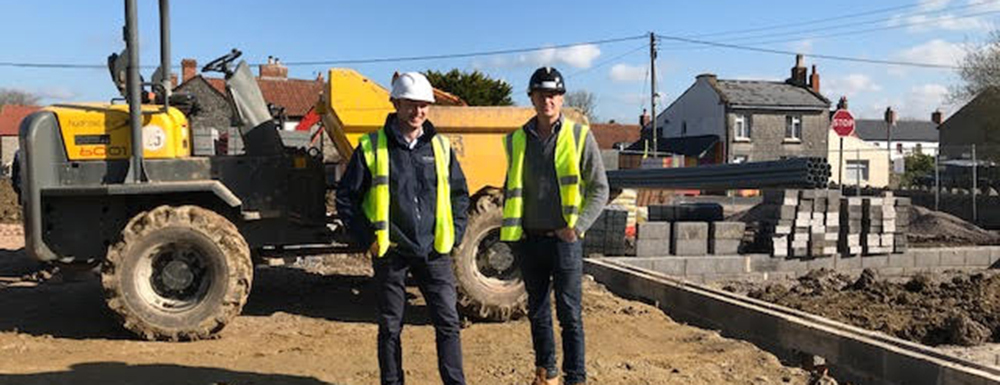 Work begins at Farriers Close, Meare